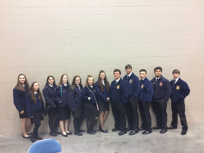 FFA members at the national convention