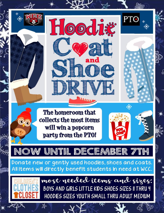 WCC Coat and Shoe Drive!
