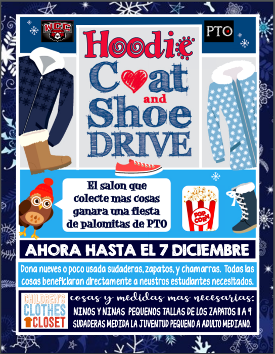 Hoodie,Coat, & Shoe Driver flyer in spanish