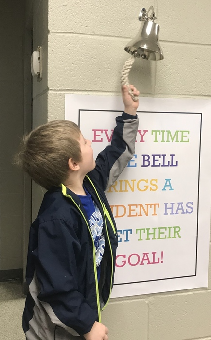Lucas ringing the bell