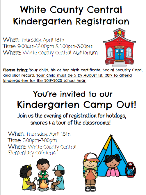 Information regarding kindergarten registration